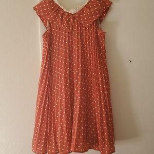 Supreme LaLa Orange Polka Dot  Dress